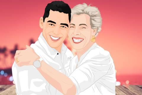 anniversary cartoon of couple