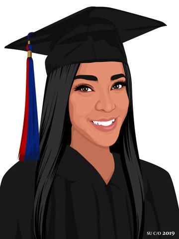 graduation cartoon female