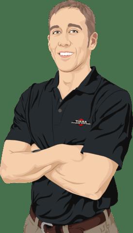 man wearing black shirt cartoon