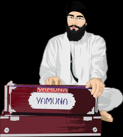 man with unique instrument